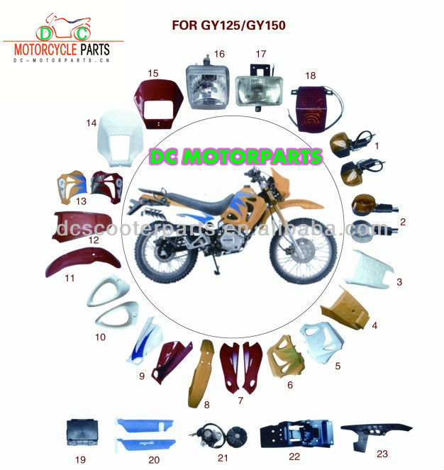GY6 125/150 Motorcycle Body Parts