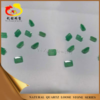 Reliable credibility beauty rectangle shaped step cut natural emerald jade