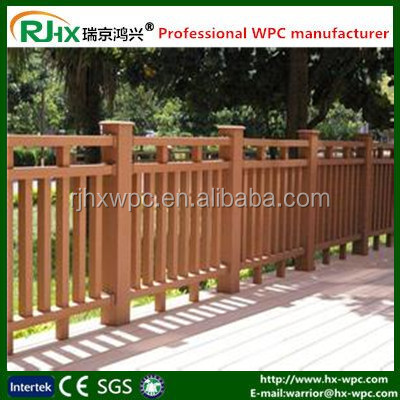 Made in China Outdoor wood-plastic composite decking security fence and handrail