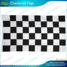 Fabric checkered black and white flag