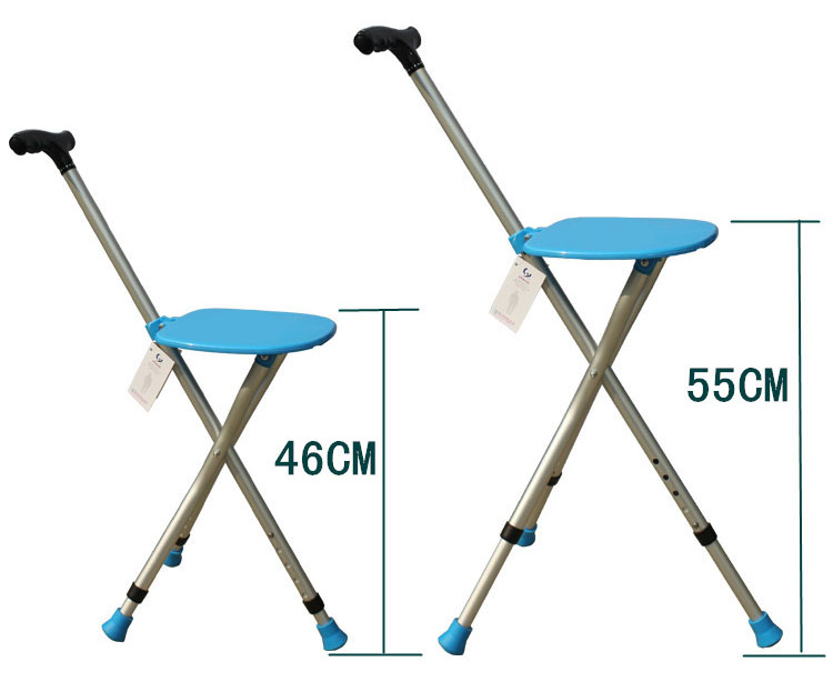 The elderly man crutch telescopic crutch stool stool stool three quadripod cane cane chair