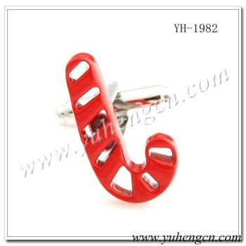 YH-1982 Novelty Red Christmas Crutches Cufflinks