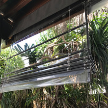 Chinese supplier fashional transparent PVC roller Roman blinds for indoor and outdoor blind roller