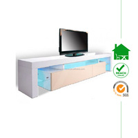TV-3025 led light lcd tv table in high gloss