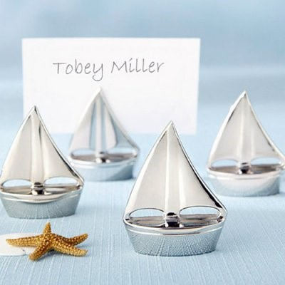 Best selling shining sails silver place card holder table wedding decoration