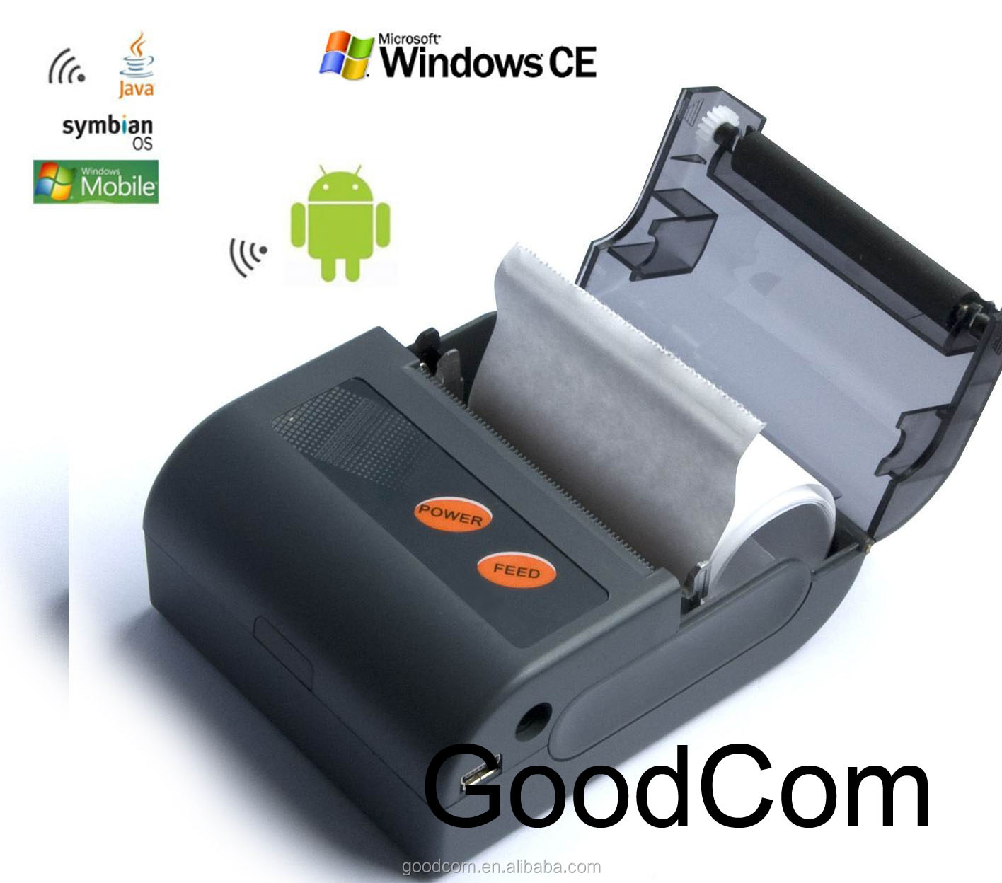 Portable Bluetooth Thermal Printer/ Handheld Mobile Mini Printer with Free SDK&Test Printing Software