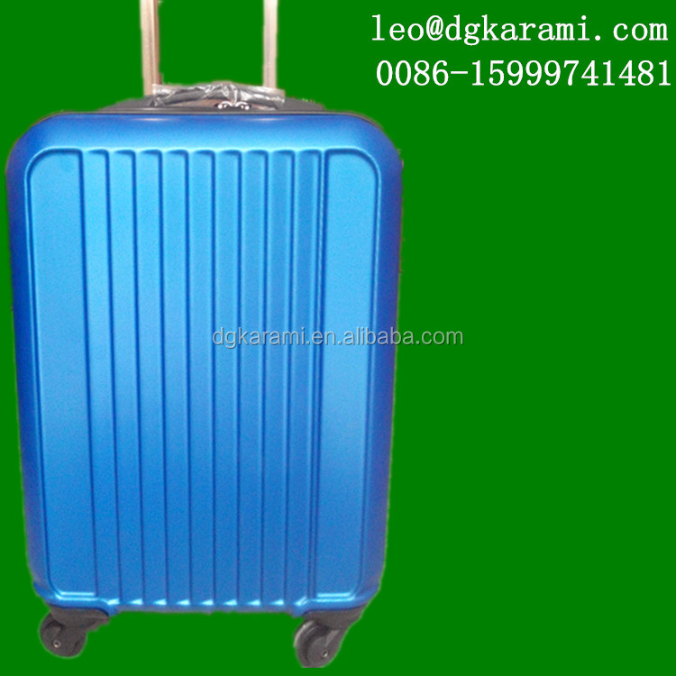 100% NEW ABS MATERIAL trolley suitcase and bag set factory 2014