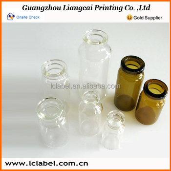 Clear glass vials glass ampoules test vials