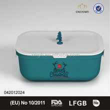 custom printed christmas pattern bpa free plastic food storage container
