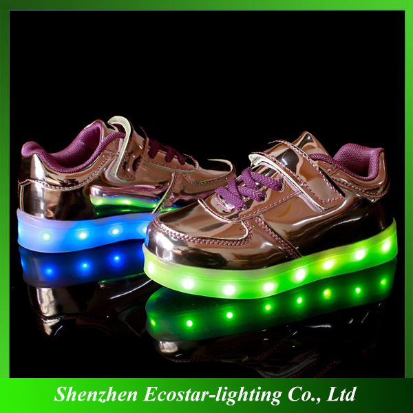 8 Color Changing LED Shoes for Kids/Colorful LED Kids Shoes