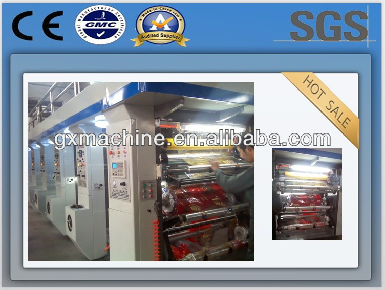 Good quality computerized aluminum foil rotogravure printing machine