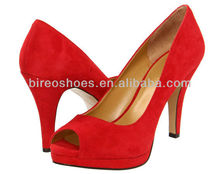 Red high heel shoes large size 3 inch shoes ( style no. WP92599)