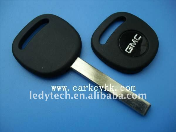 Good quality GMC transponder key shell with flat blade