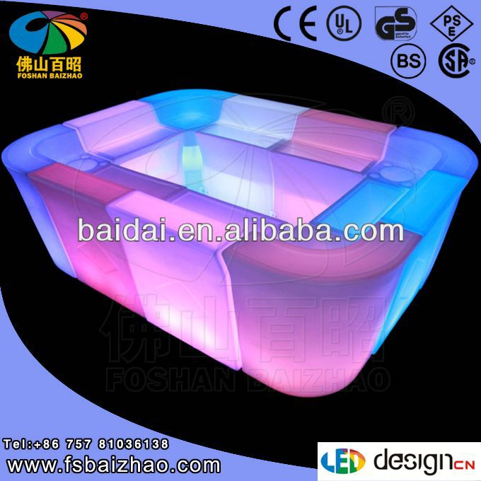 2013 fashionable led furniture sofa furniture for bar and restaurant led tables and chairs for events