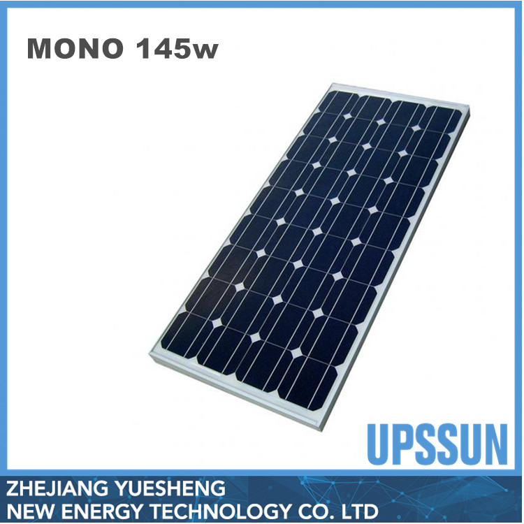 cheap and high quality 145w small photovoltaic solar panels module with tuv ,ce,mcs certification for solar system