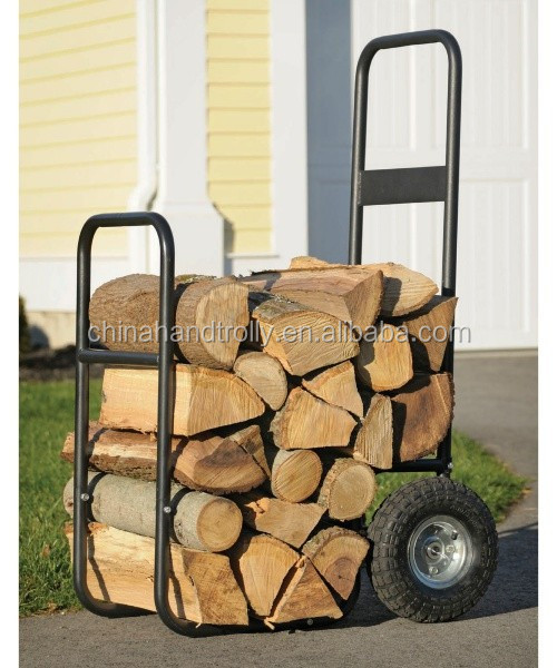 shelter hauling logs logic firewood mover cart with pneumatic wheels