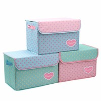 Customized wholesale decorative collapsible fabric storage box