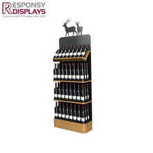 High quality solid wood wine display stand with deer logo