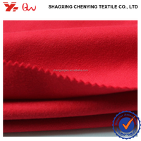 best price 100% polyester fabrics used clothing / flannel BRUSHED FABRICS materials for winter coat