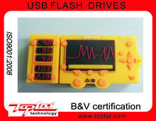 2G Wholesale Promotional Gadget Individualized Auto-run Yellow Silicon Wireless Radio USB Flash Drive