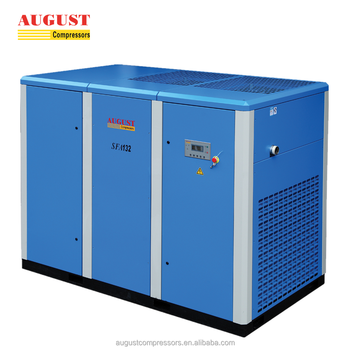 AUGUST 132KW 180HP stationary air cooled screw air compressor price list compressor