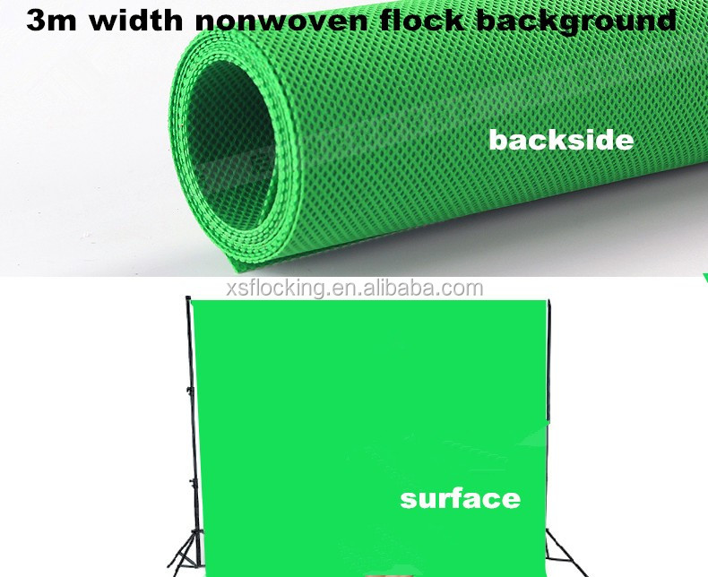 nonwoven flock fabric in 3m width for Photography background
