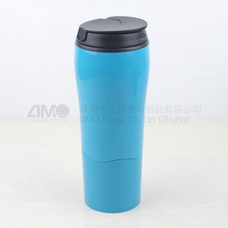 Plastic mighty cup, Suction Mug Tumbler, red/white/black for Travel Mug