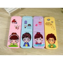 2017 Latest design folding separated kids cheap plastic pencil case