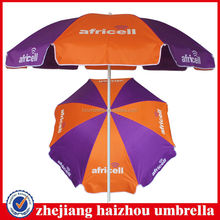 windproof frame beach parasol umbrella for promotion