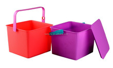 Top Quality clear square plastic buckets with lids