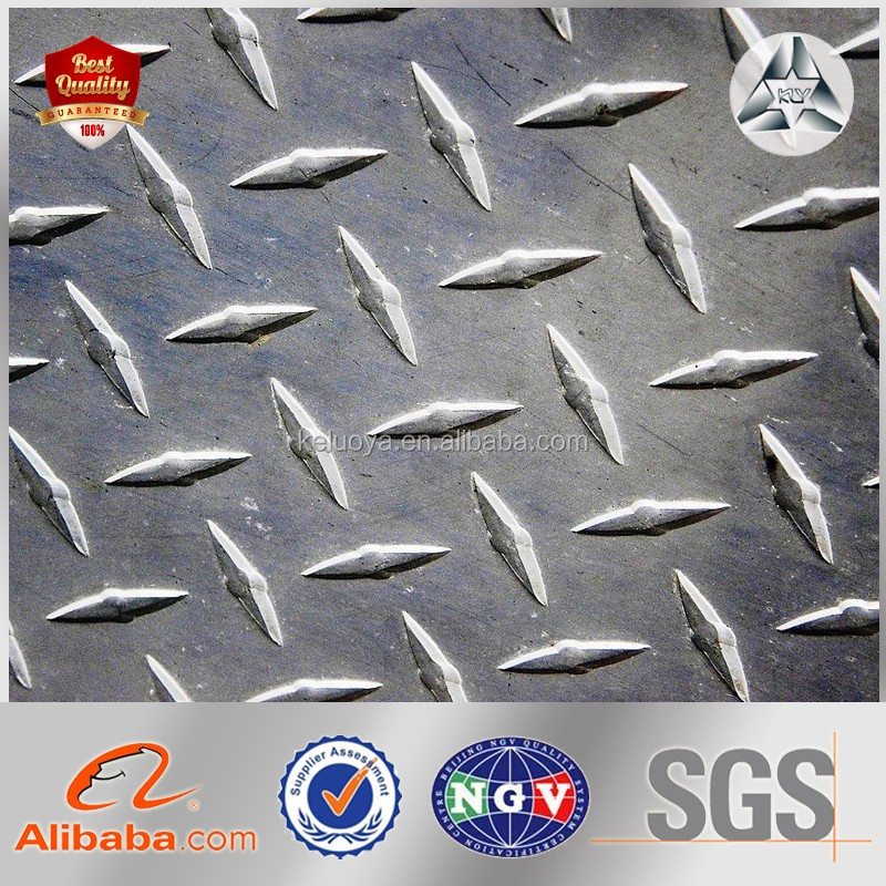 Resistant SS400/Q235 MS Steel /checkered Plate size