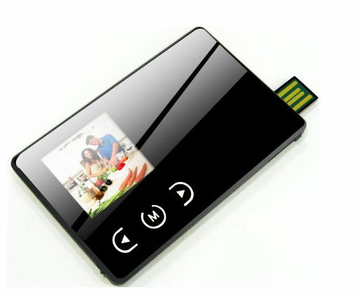 wholesale 1.5 inch LCD name card picture frame with 1G-8G flash