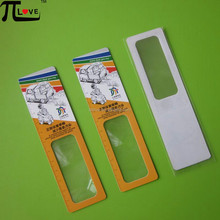 Advertising OEM Logo Printed 140*38mm plastic magnifying lens with ruler