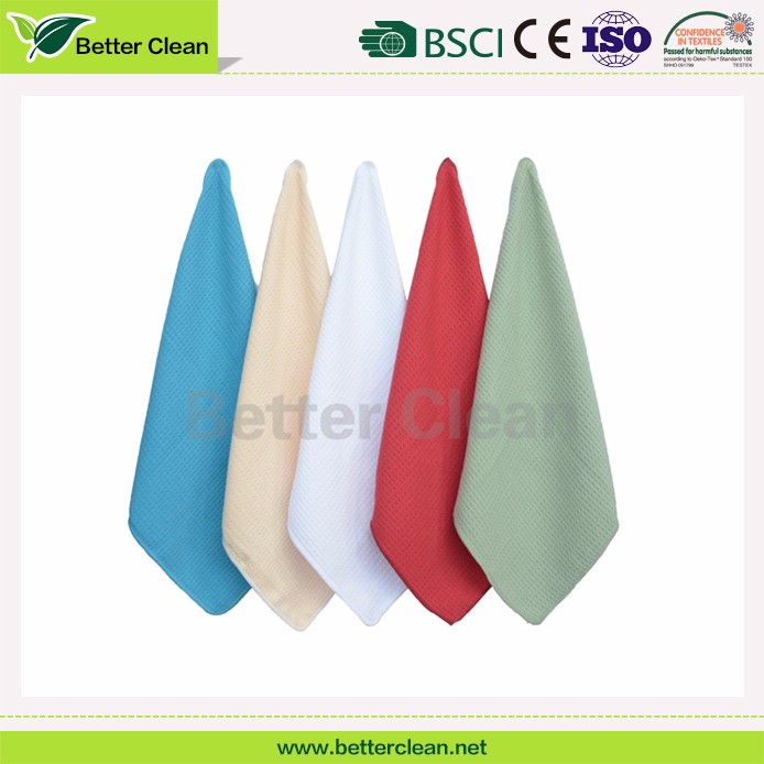 Eco friendly microfiber material cheap quick dry hands kitchen towel