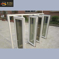 Factory made aluminium double pane opening casement window for veranda and social area,DIY installation