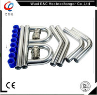 universal turbo aluminum intercooler pipings with clamps