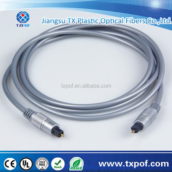 Silver color 4.0mm digital audio Toslink cable