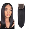 virgin unprocessed closures human hair Silk 7x7 6x6 5x5 4x4 lace closure raw indian hair directly from india