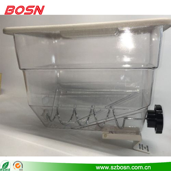 New design clear acrylic dry food cereal dispenser for sale