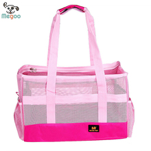 Fashionable Summer Breathable Mesh PInk Dog Carry Bag Wholesale Supplier