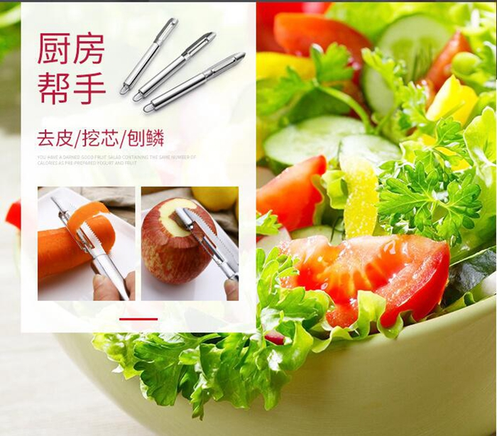 22CM length Fruits paring knife, laser printing logo stainless steel peeler , kitchen tool knife