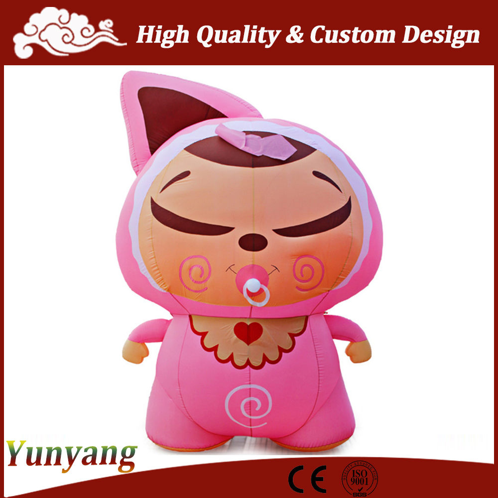 Pink inflatable fruit cartoon, adult inflatable Christmas cartoons