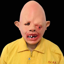 Latex Rubber Creepy Scary Ugly Baby Head Mask Halloween Party Costume