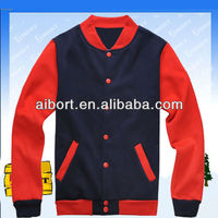 Var-104 womens polyester/cotton fleecy varsity jackets 2013