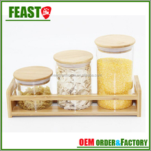 800ml recycled glass herb storage jars for hermetic glass storage jars for glass jar with customized logo