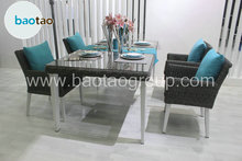 Garden home rattan dining set dining table set