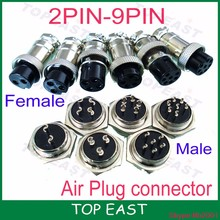 Wholesale 2-9 Pin Male & Female Diameter 16mm Wire Panel Connector GX16-4 Socket Plug High quality