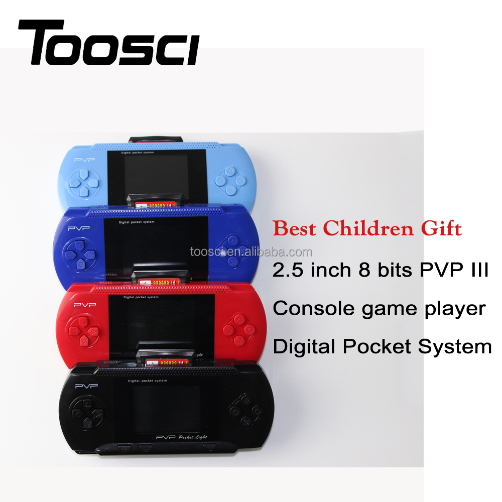 Digital Pocket System TV Out Video PVP III console game players 2.5 inch 8 bits for Children