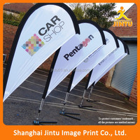 Fiberglass pole outdoor street side flying banner teardrop flag