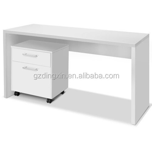 high quality cheap computer desk with A4 moving file drawers office desk